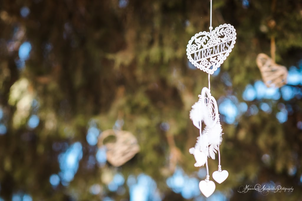 An image of a sign that hangs from the tree, wedding photography at Minthis Hills by Alexandru Macelaru