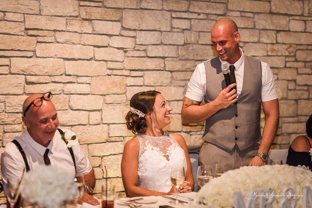 As part of my wedding photography at Minthis Hills, I was honored to capture the groom's speech