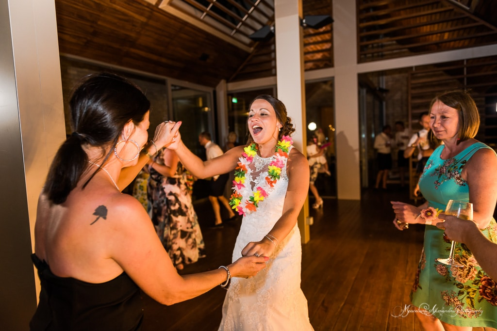 Beautiful photo of the bride dancing at Minthis Hills
