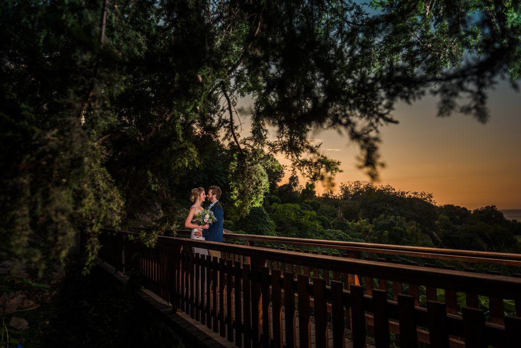Great wedding photo at the sunset, Paphos wedding photographer, alexandru Macelaru