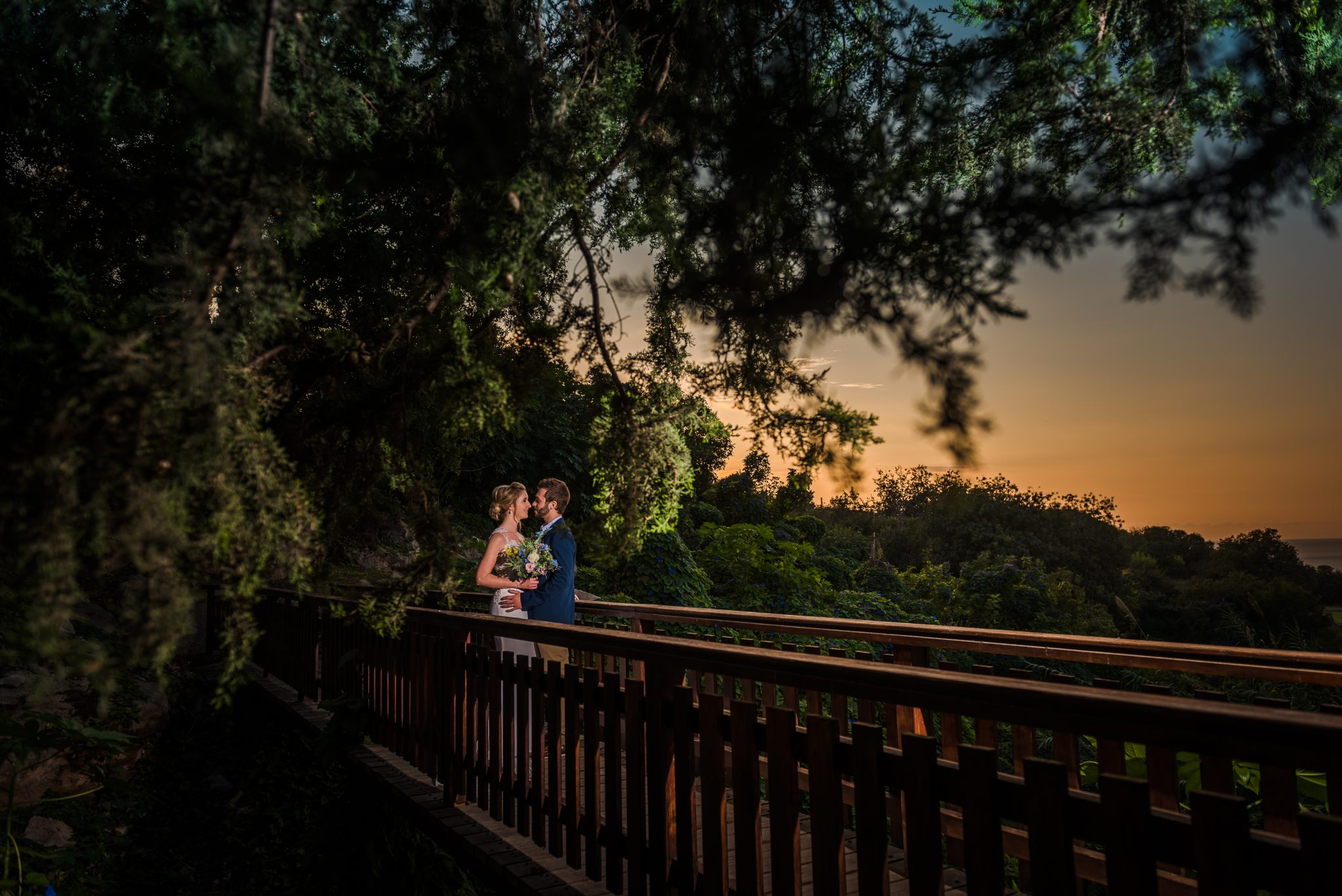 Great wedding photo at the sunset, Paphos wedding photographer, alexandru Macelaru