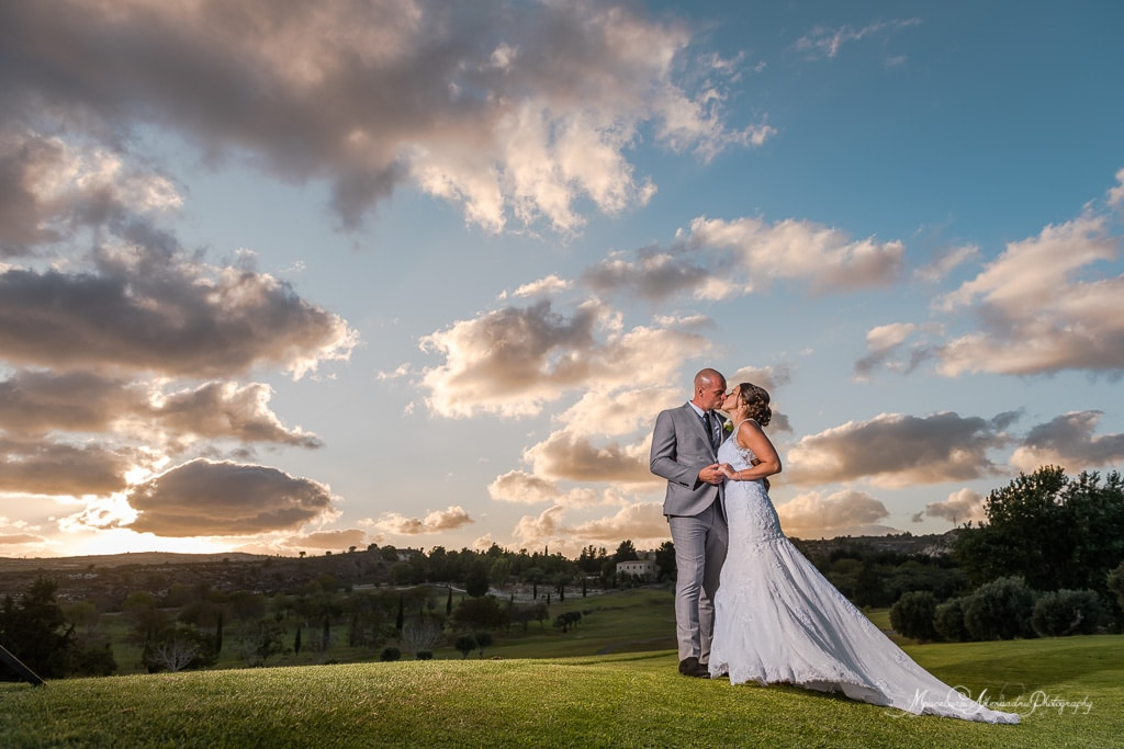 Great views at the Minthis Hills Golf Club at the wedding pf Claire and Steve