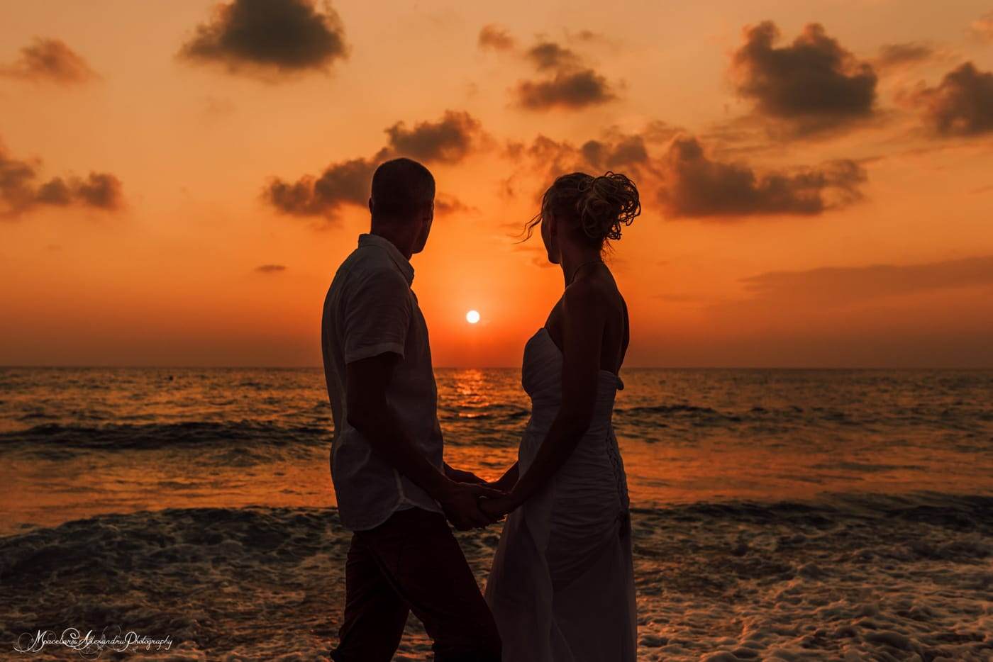 The amazing Cyprus sunset best place for a wedding photographer.