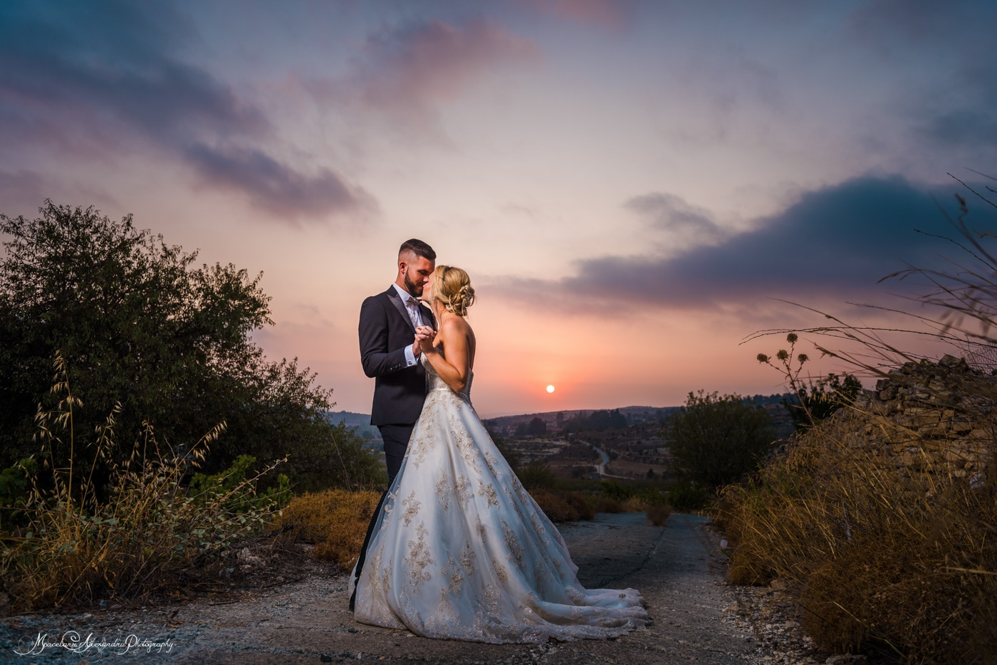 Superb wedding photos Cyprus at the sunset