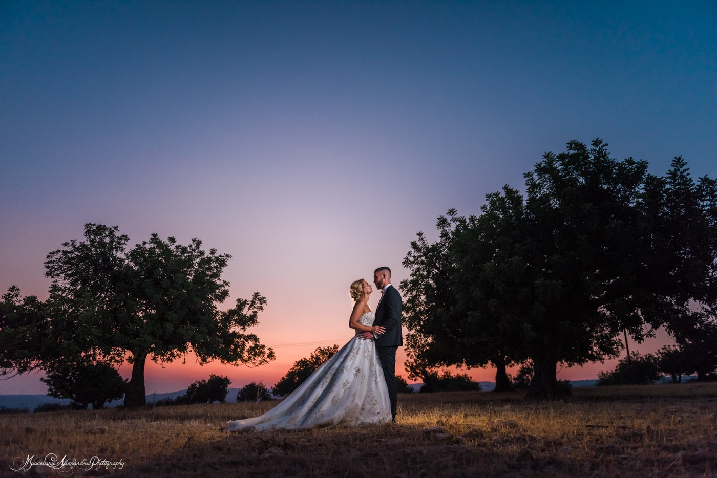 Amazing blue hour photo by Alexandru Macelaru Wedding photos Cyprus
