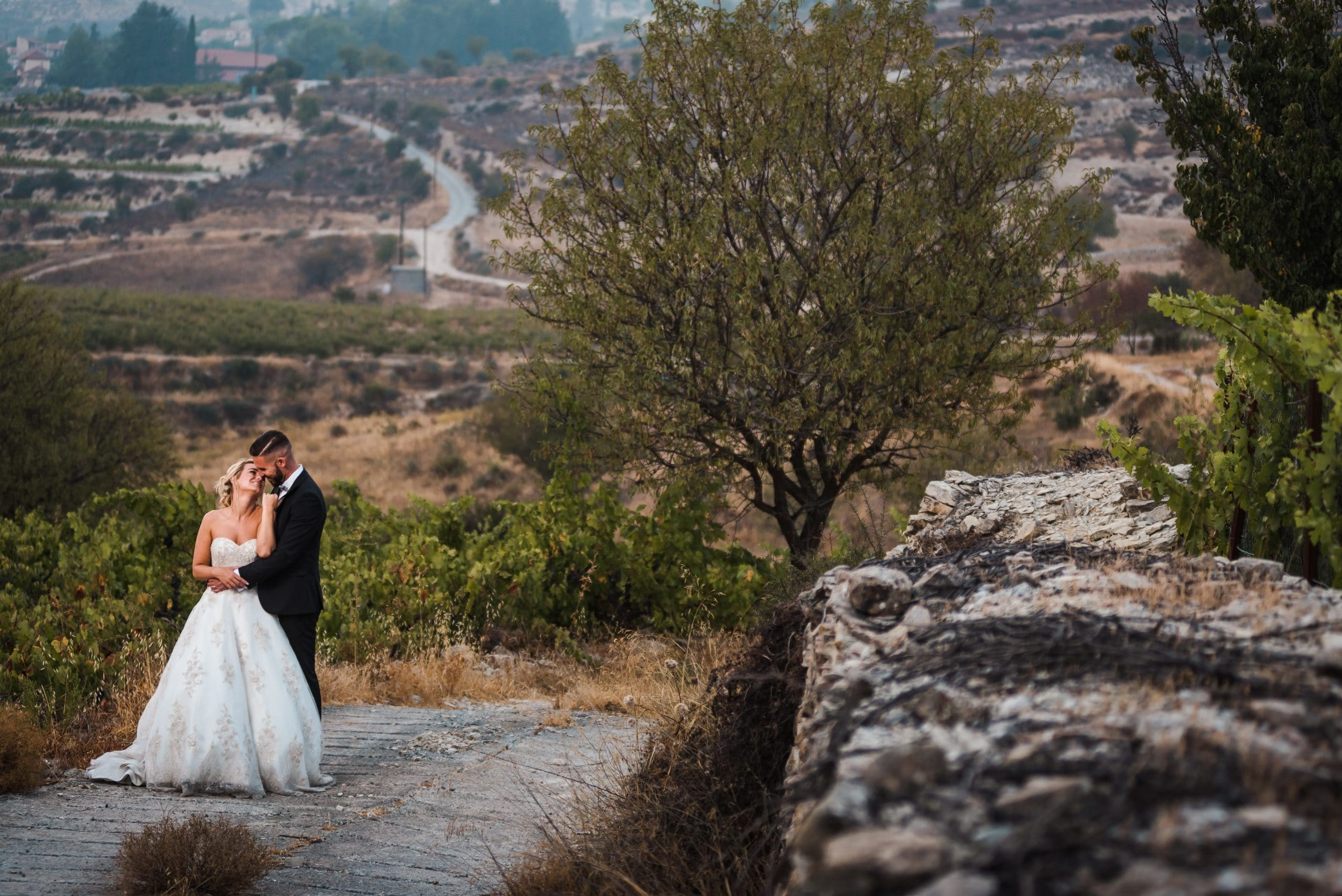 Wedding photography in Troodos at the sunset