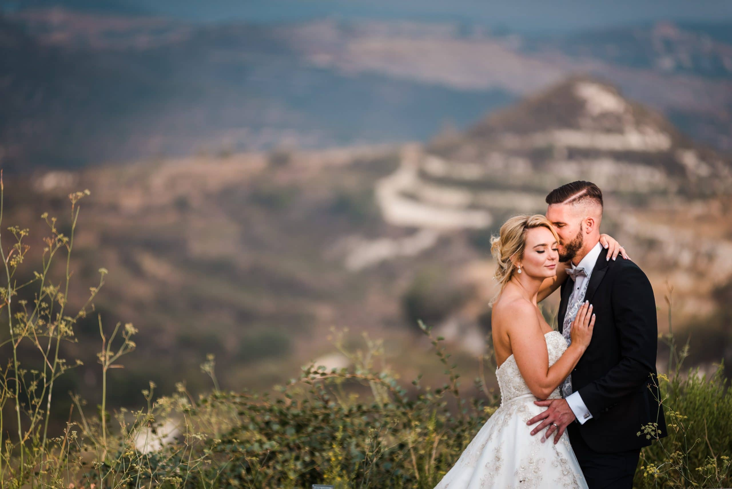 Wedding photography in Paphos - Bride and Groom hugging