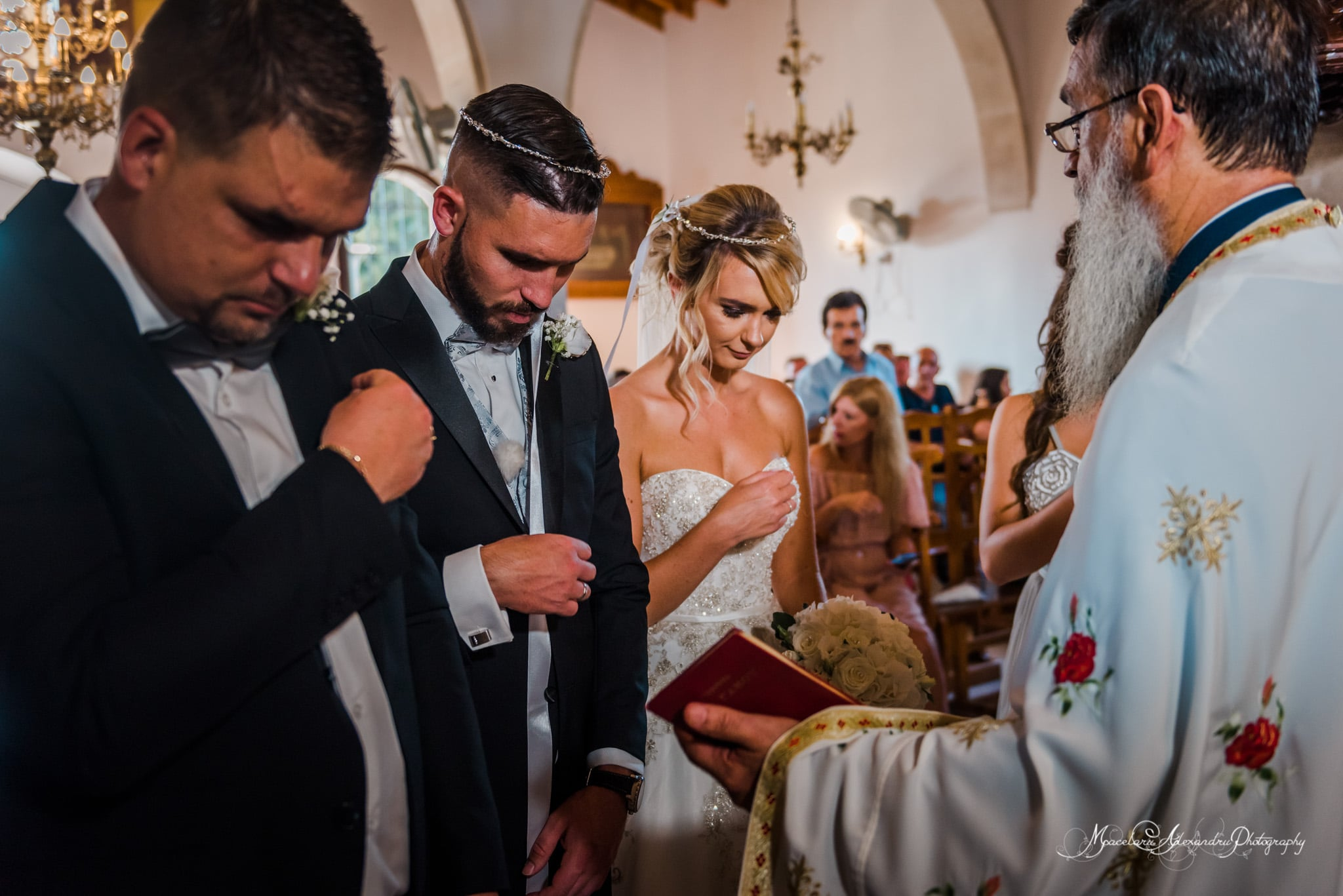 Wedding photography in Paphos - sacred moment