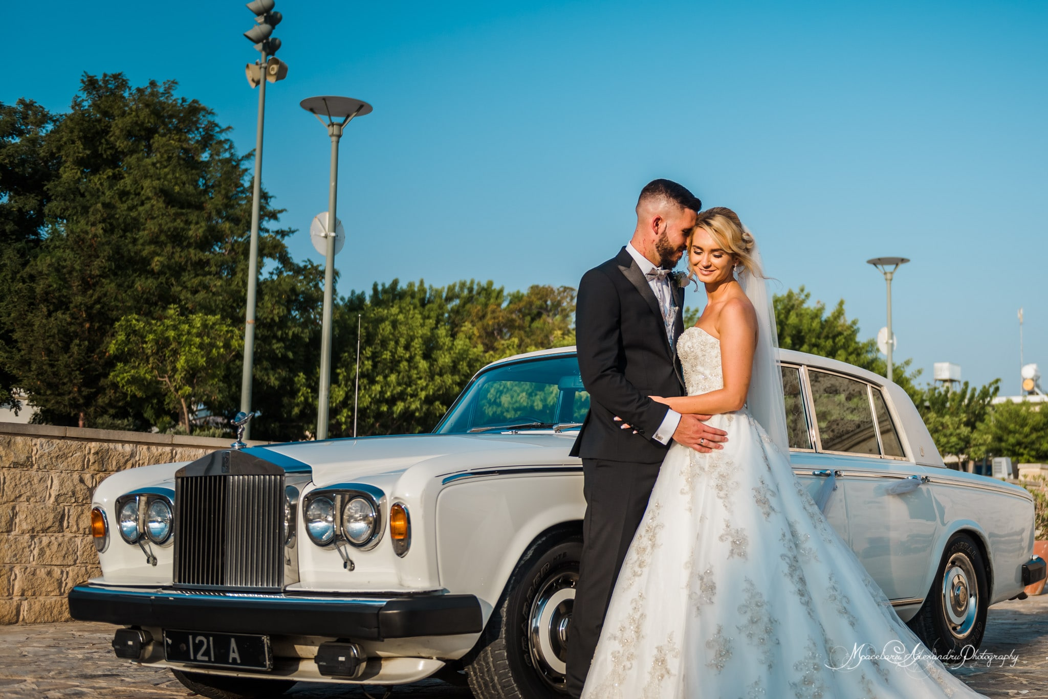 Wedding photography in Paphos - Portrait with the bride and groom