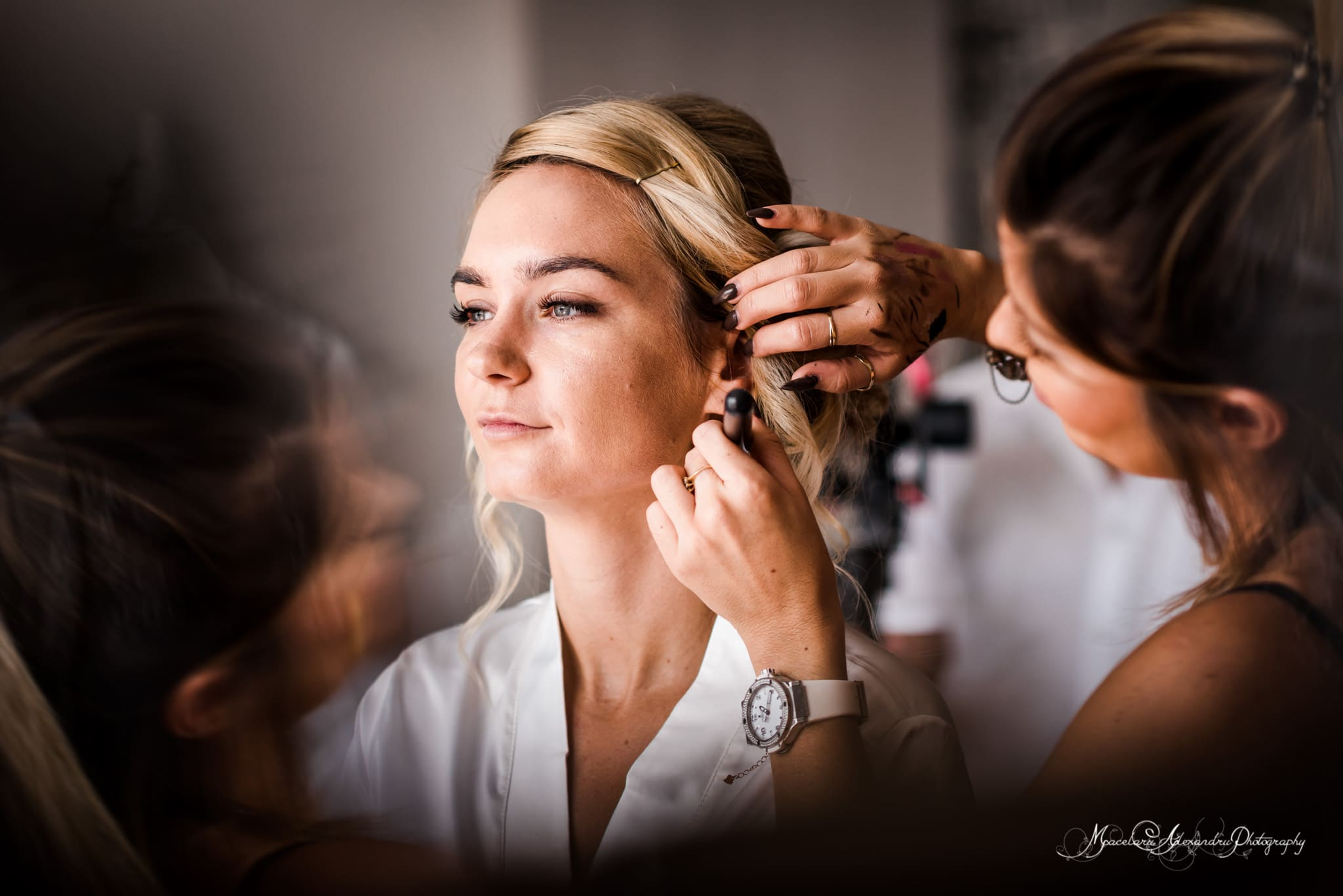 Wedding photography in Paphos - Bride is having make up