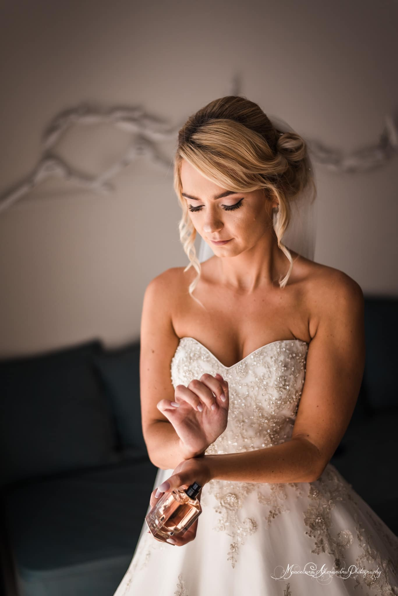 Wedding photography in Paphos - The bride is getting ready in her room