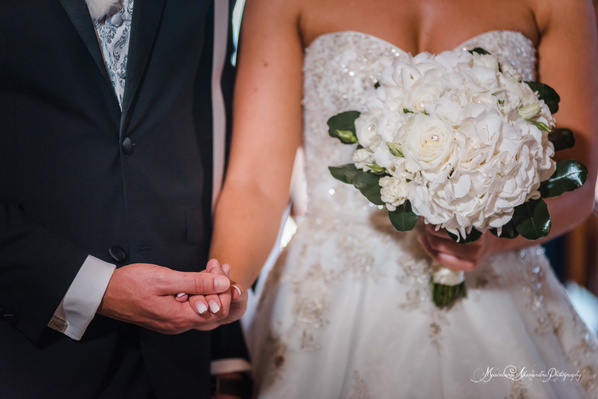 Wedding photography in Paphos - Bride and groom holding hands