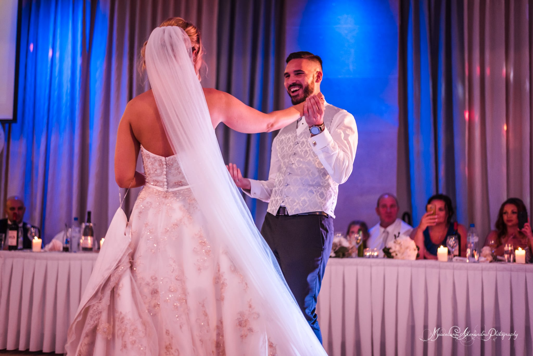 Wedding photography in Paphos - Bride and groom dancing