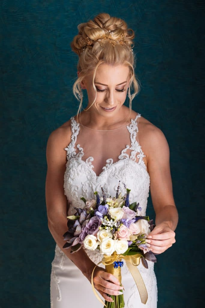 Bride and the flowers - Wedding photography Paphos