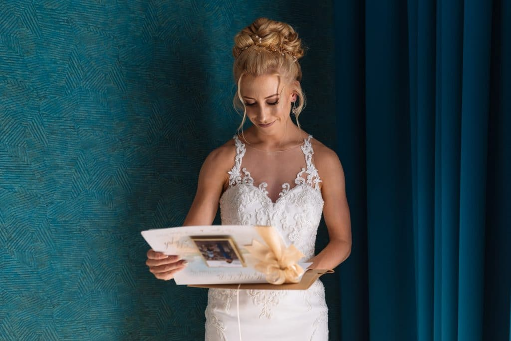 Bride reading her letter - Wedding photography Cyprus