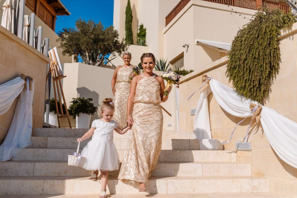 Bridesmaids and flower girl - wedding photographer Cyprus