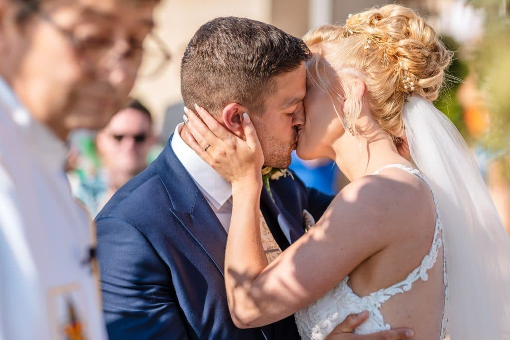 The first Kiss - Wedding photographer in Cyprus