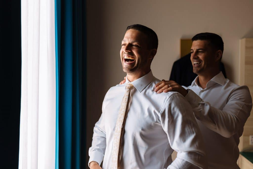Groom getting ready with his brother - Wedding photography Paphos