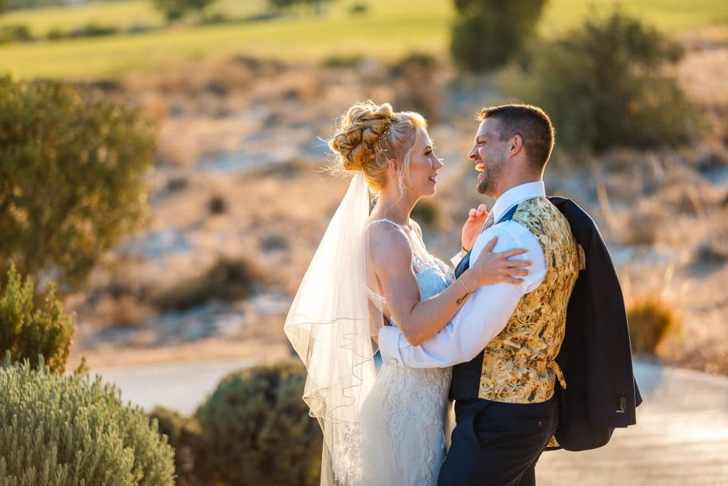 Bride and Groom Sunset photo session