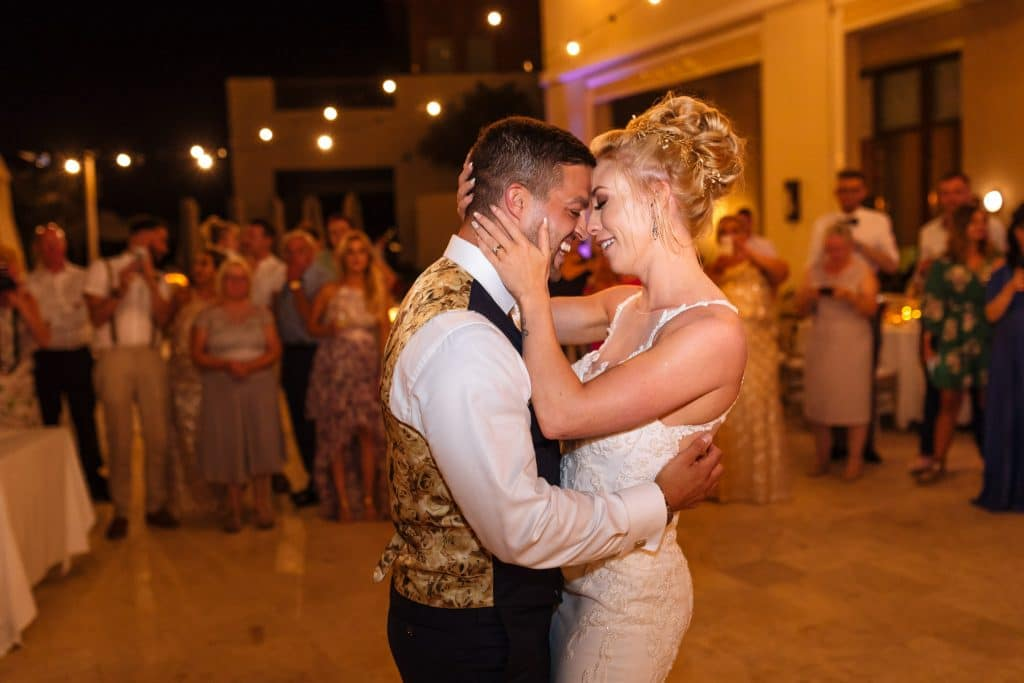 Bride and Groom first dance in Paphos Cyprus